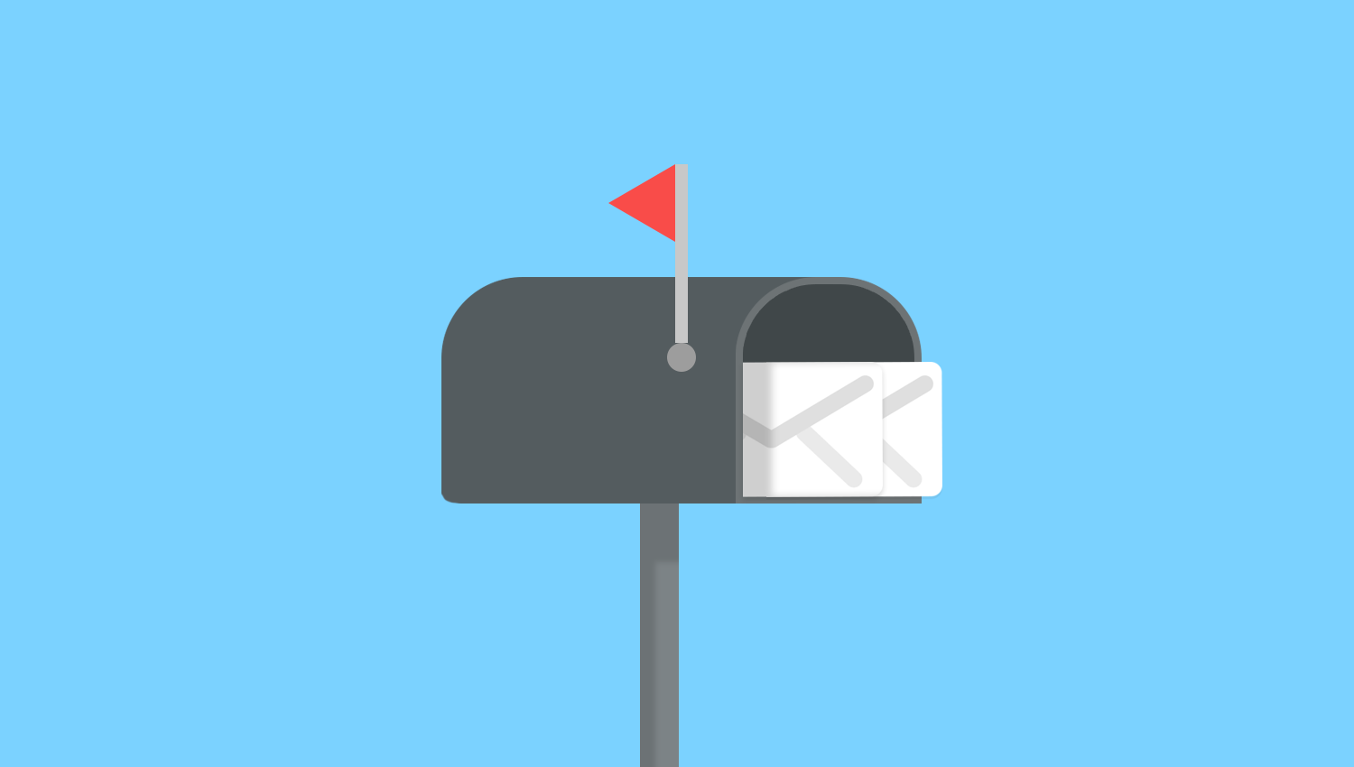 Email Box with Flag Up